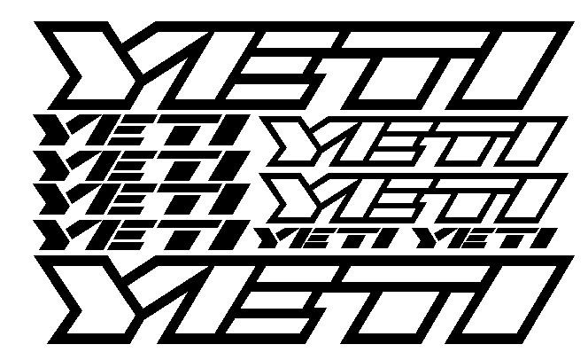 kit pegatina para bicicleta - YETI