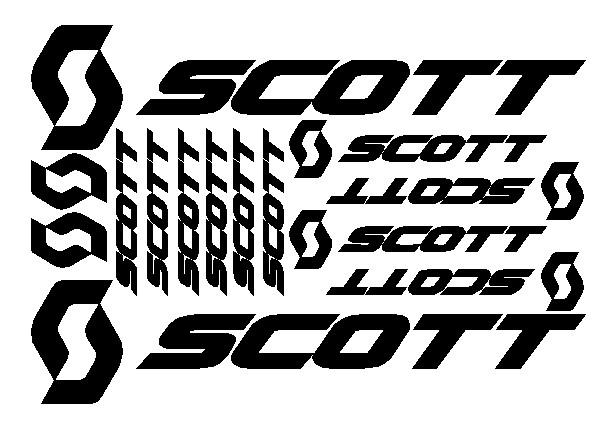 kit pegatina para bicicleta - SCOTT