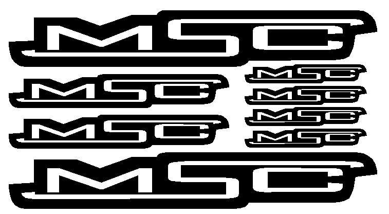 kit pegatina para bicicleta - MSC