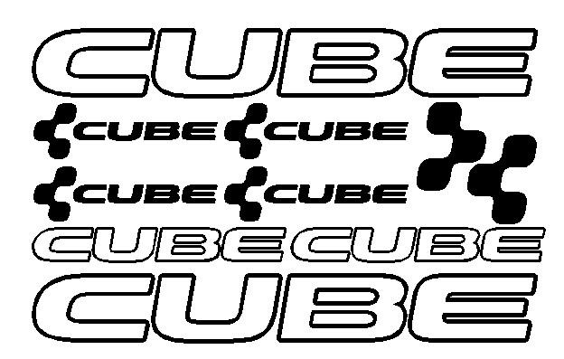 kit pegatina para bicicleta - CUBE