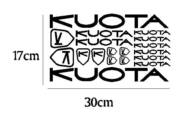 kit pegatina para bicicleta - KUOTA