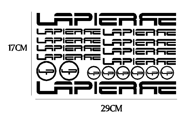kit pegatina para bicicleta - LAPIERRE