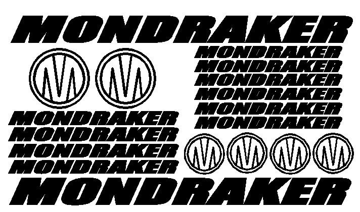 kit pegatina para bicicleta - MONDRAKER